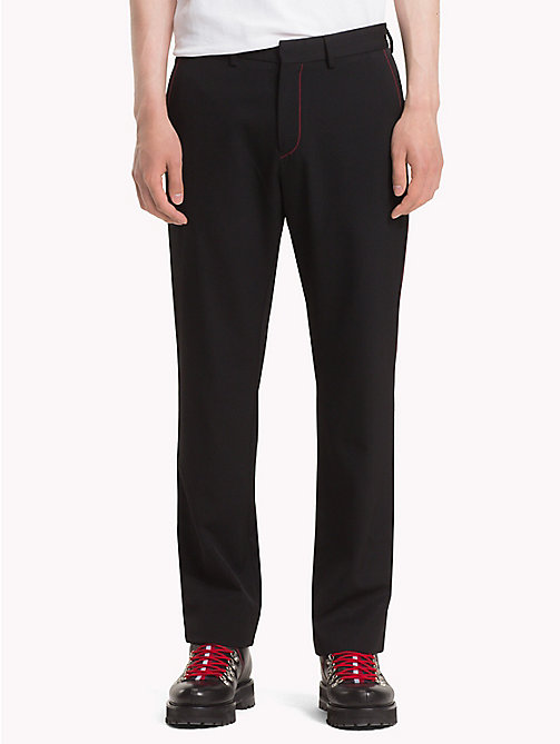 HILFIGER COLLECTION Formal Pure Wool Trousers - JET BLACK -  TOMMY NOW MEN - main image