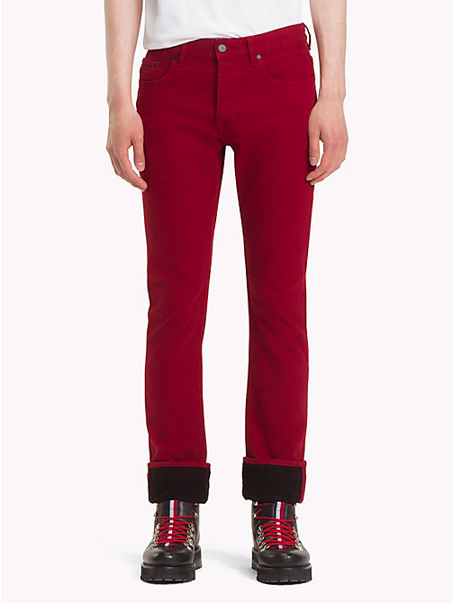 HILFIGER COLLECTION Slim Fit Jeans - RED -  TOMMY NOW MEN - main image