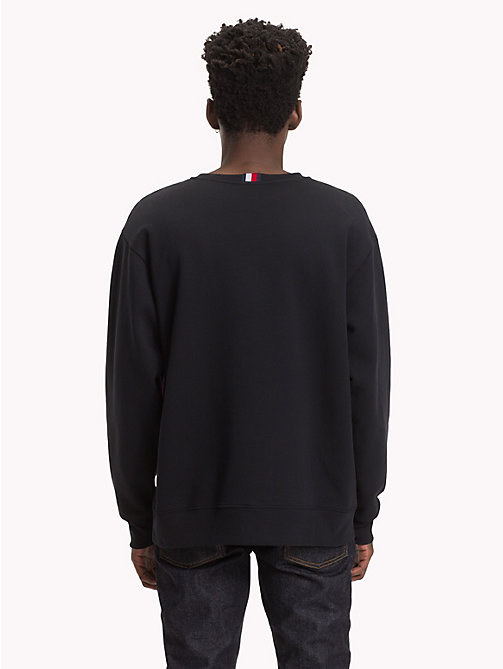 HILFIGER COLLECTION Sweatshirt à empiècement rayé - JET BLACK - HILFIGER COLLECTION TOMMY NOW HOMMES - image détaillée 1