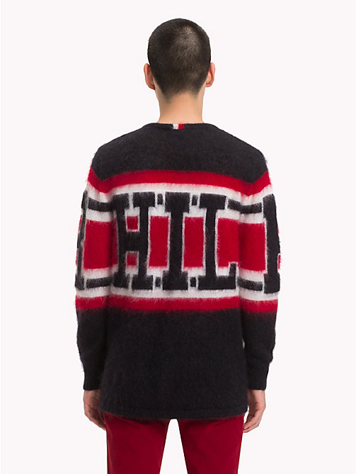 HILFIGER COLLECTION Mohair-Strickpullover mit Logo - JET BLACK - HILFIGER COLLECTION TOMMY NOW HERREN - main image 1