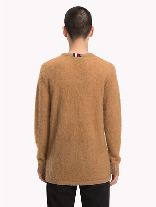 HILFIGER COLLECTION Pullover in lana mohair con logo - TIGER EYE - HILFIGER COLLECTION Hilfiger Collection - dettaglio immagine 1