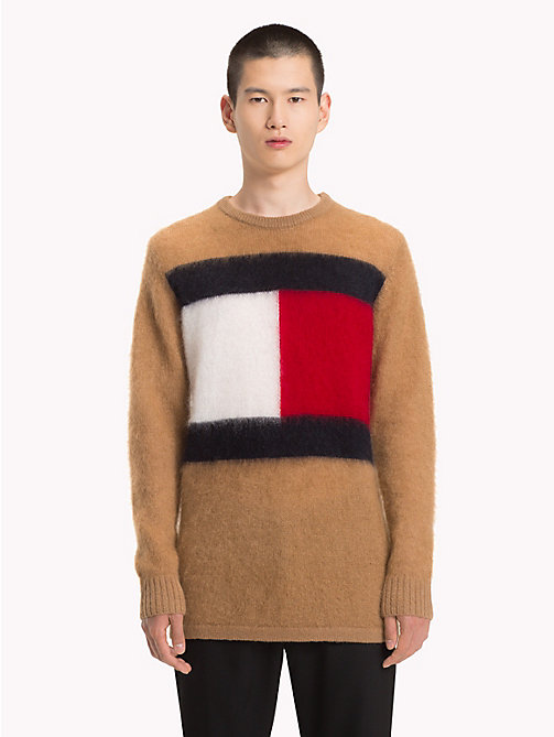 HILFIGER COLLECTION Logo Mohair Jumper - TIGER'S EYE - HILFIGER COLLECTION Hilfiger Collection - main image