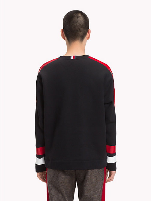 HILFIGER COLLECTION Retro Sports Jumper - JET BLACK - HILFIGER COLLECTION TOMMY NOW MEN - detail image 1
