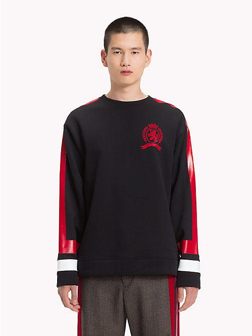 HILFIGER COLLECTION Retro Sports Jumper - JET BLACK - HILFIGER COLLECTION TOMMY NOW MEN - main image
