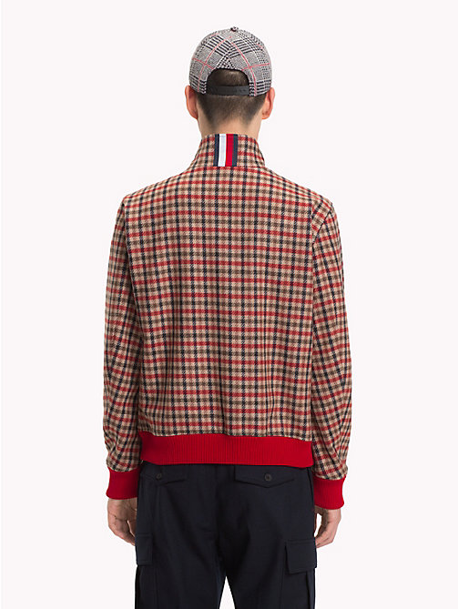 HILFIGER COLLECTION Check Cropped Jacket - BARBADOS CHERRY - HILFIGER COLLECTION Hilfiger Collection - detail image 1