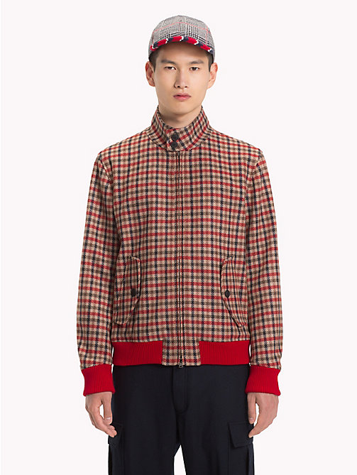 HILFIGER COLLECTION Check Cropped Jacket - BARBADOS CHERRY - HILFIGER COLLECTION Hilfiger Collection - main image