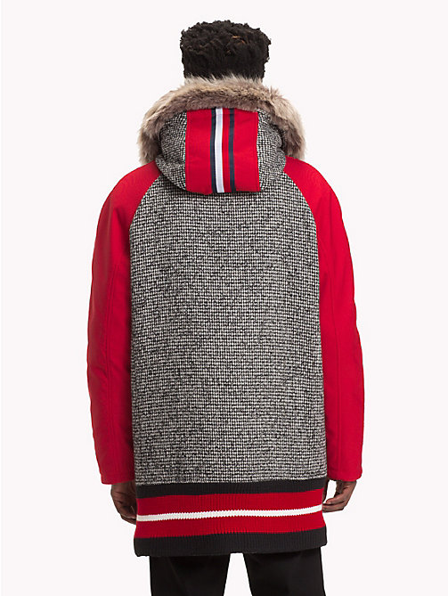 HILFIGER COLLECTION Colour-Blocked Hooded Coat - SILVER FOG HEATHER - HILFIGER COLLECTION TOMMY NOW MEN - detail image 1