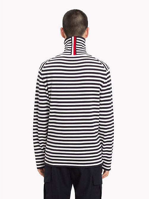 HILFIGER COLLECTION Stripe Turtleneck Jumper - DEEP WELL -  TOMMY NOW MEN - detail image 1
