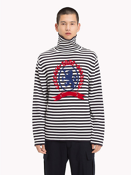 HILFIGER COLLECTION Gestreifter Pullover mit Rollkragen - DEEP WELL - HILFIGER COLLECTION TOMMY NOW HERREN - main image