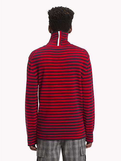 HILFIGER COLLECTION Stripe Turtleneck Jumper - BARBADOS CHERRY - HILFIGER COLLECTION TOMMY NOW MEN - detail image 1