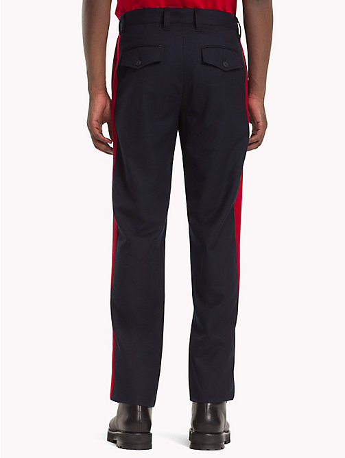 HILFIGER COLLECTION Contrast Stripe Wool Trousers - DEEP WELL -  TOMMY NOW MEN - detail image 1