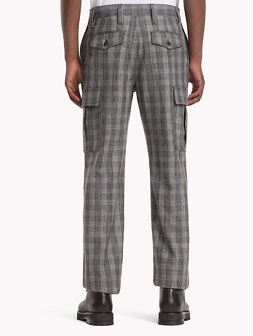HILFIGER COLLECTION Check Cargo Trousers - SILVER FILIGREE - HILFIGER COLLECTION TOMMY NOW MEN - detail image 1
