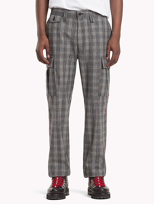 HILFIGER COLLECTION Check Cargo Trousers - SILVER FILIGREE - HILFIGER COLLECTION TOMMY NOW MEN - main image