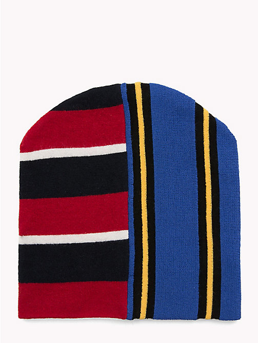 HILFIGER COLLECTION Contrast Stripe Beanie Hat - SODALITE BLUE -  TOMMY NOW MEN - detail image 1