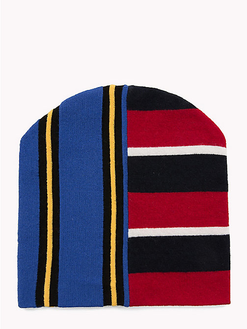 HILFIGER COLLECTION Contrast Stripe Beanie Hat - SODALITE BLUE - HILFIGER COLLECTION TOMMY NOW MEN - main image