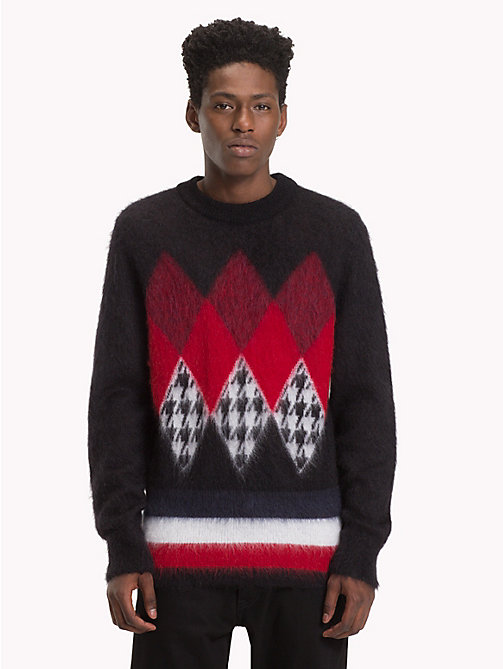 HILFIGER COLLECTION Pull à motif argyle - JET BLACK - HILFIGER COLLECTION TOMMY NOW HOMMES - image principale
