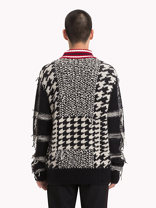 HILFIGER COLLECTION Houndstooth Check Jumper - JET BLACK - HILFIGER COLLECTION TOMMY NOW MEN - detail image 1