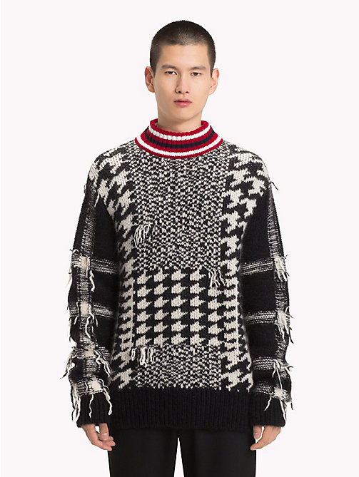 HILFIGER COLLECTION Houndstooth Check Jumper - JET BLACK - HILFIGER COLLECTION TOMMY NOW MEN - main image