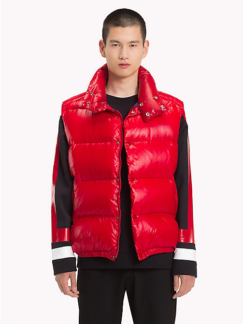 HILFIGER COLLECTION High Shine Down Gilet - TOMMY RED -  TOMMY NOW MEN - main image