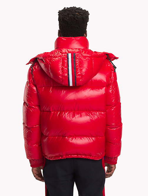 HILFIGER COLLECTION High Shine Puffer Jacket - TOMMY RED - HILFIGER COLLECTION TOMMY NOW MEN - detail image 1