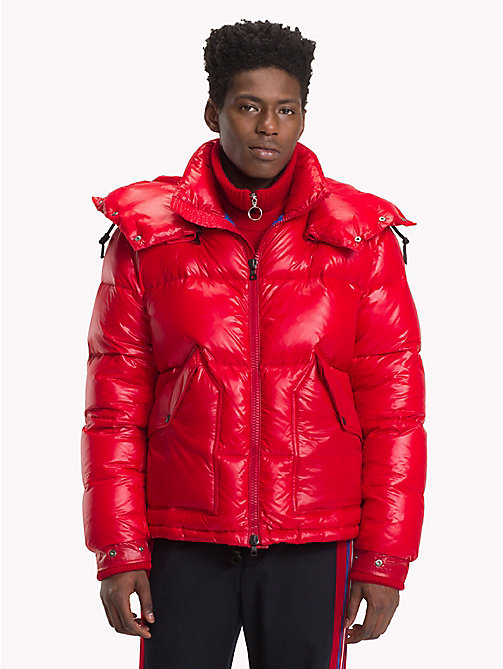 HILFIGER COLLECTION High Shine Puffer Jacket - TOMMY RED - HILFIGER COLLECTION TOMMY NOW MEN - main image