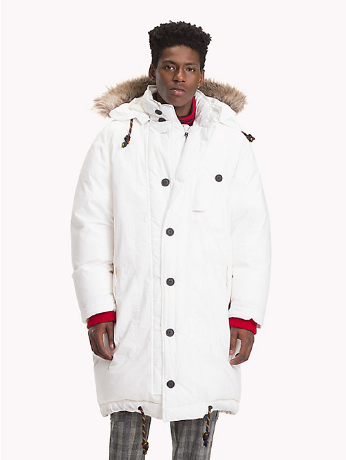HILFIGER COLLECTION Hooded Down Parka Jacket - BRIGHT WHITE - HILFIGER COLLECTION TOMMY NOW MEN - main image