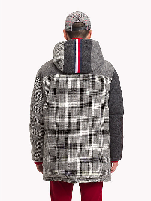 HILFIGER COLLECTION Abrigo con capucha y estampado patchwork - SILVER FOG HEATHER - HILFIGER COLLECTION TOMMY NOW HOMBRE - imagen detallada 1