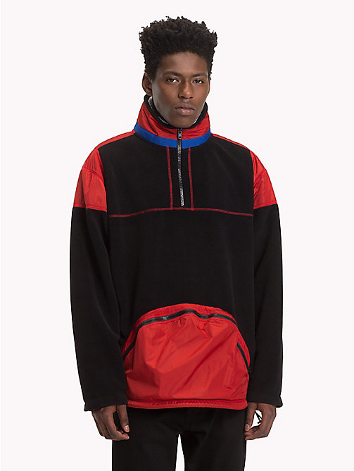 HILFIGER COLLECTION Colour-blocked anorak sweatshirt - JET BLACK - HILFIGER COLLECTION TOMMY NOW HEREN - main image