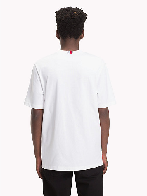 HILFIGER COLLECTION Colour-Blocked Patchwork T-Shirt - BRIGHT WHITE - HILFIGER COLLECTION Hilfiger Collection - detail image 1