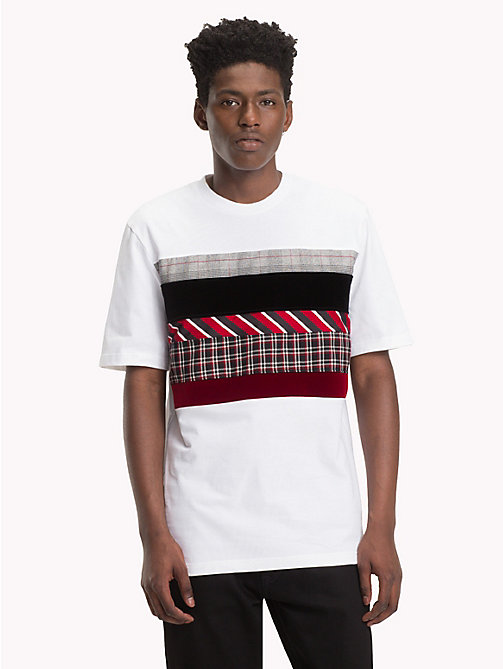 HILFIGER COLLECTION Colour-Blocked Patchwork T-Shirt - BRIGHT WHITE - HILFIGER COLLECTION Hilfiger Collection - main image