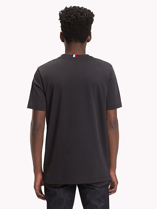 HILFIGER COLLECTION T-shirt con stemma a righe - JET BLACK - HILFIGER COLLECTION Hilfiger Collection - dettaglio immagine 1