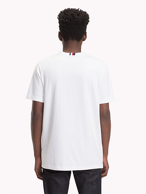 HILFIGER COLLECTION T-shirt met gestreept embleem - BRIGHT WHITE - HILFIGER COLLECTION TOMMY NOW HEREN - detail image 1