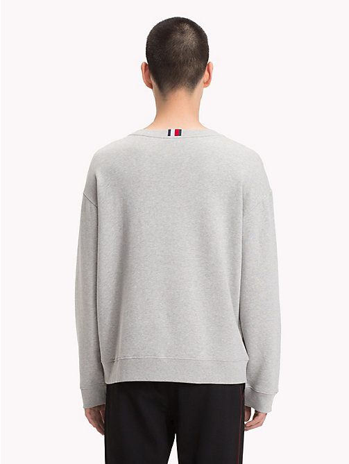 HILFIGER COLLECTION Crest Lightweight Jumper - SILVER FOG HEATHER -  TOMMY NOW MEN - detail image 1