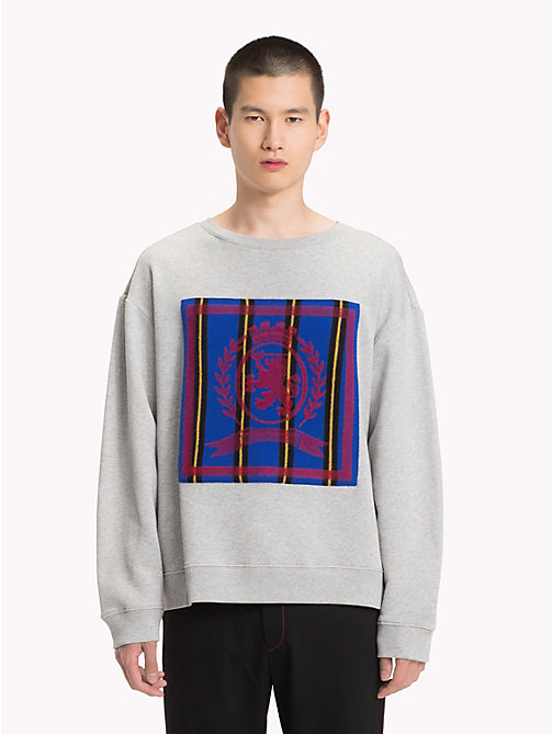 HILFIGER COLLECTION Crest Lightweight Jumper - SILVER FOG HEATHER - HILFIGER COLLECTION TOMMY NOW MEN - main image