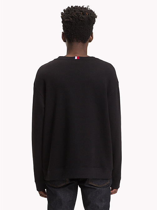 HILFIGER COLLECTION Pullover leggero con stemma - JET BLACK - HILFIGER COLLECTION Hilfiger Collection - dettaglio immagine 1