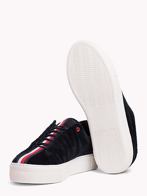 HILFIGER COLLECTION Sneaker casual in velluto a coste - TOMMY NAVY - HILFIGER COLLECTION Hilfiger Collection - dettaglio immagine 1