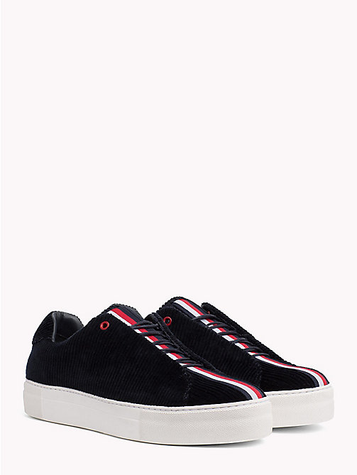 HILFIGER COLLECTION Sneaker casual in velluto a coste - TOMMY NAVY - HILFIGER COLLECTION Hilfiger Collection - immagine principale