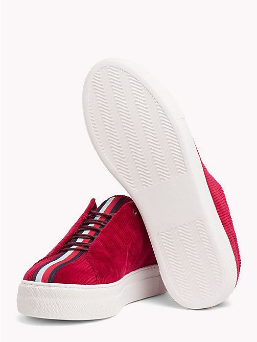HILFIGER COLLECTION Casual corduroy sneaker - CABERNET - HILFIGER COLLECTION TOMMY NOW HEREN - detail image 1