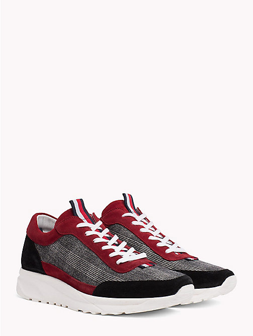 HILFIGER COLLECTION Suede Plaid Trainers - RWB - HILFIGER COLLECTION TOMMY NOW MEN - main image