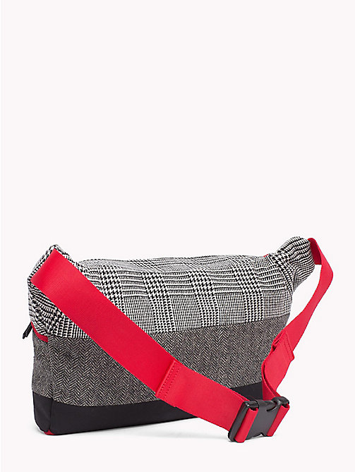 TOMMY HILFIGER Contrast Pattern Oversized Fanny Pack - GREY MIX - TOMMY HILFIGER TOMMY NOW MEN - detail image 1
