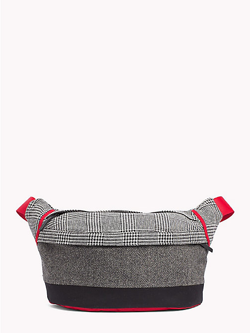 TOMMY HILFIGER Contrast Pattern Oversized Fanny Pack - GREY MIX - TOMMY HILFIGER TOMMY NOW MEN - main image