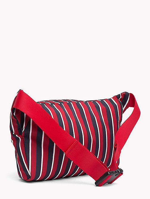 TOMMY HILFIGER Stripe Crest Oversized Fanny Pack - CORPORATE STRIPES - TOMMY HILFIGER TOMMY NOW MEN - detail image 1
