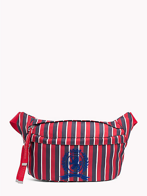 TOMMY HILFIGER Marsupio oversize a righe con stemma - CORPORATE STRIPES - TOMMY HILFIGER TOMMY NOW UOMO - immagine principale