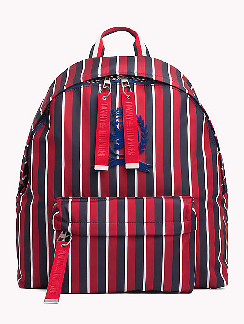 TOMMY HILFIGER Striped Crest Backpack - CORPORATE STRIPES - TOMMY HILFIGER TOMMY NOW MEN - main image