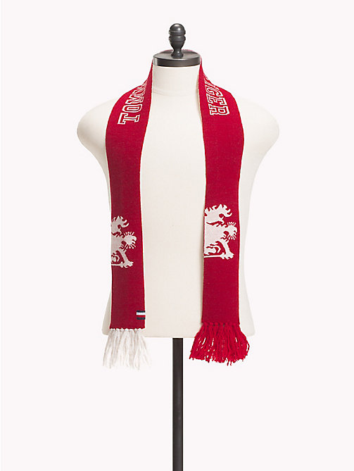 TOMMY HILFIGER Reversible Logo Scarf - RED/WHITE - TOMMY HILFIGER TOMMY NOW MEN - main image