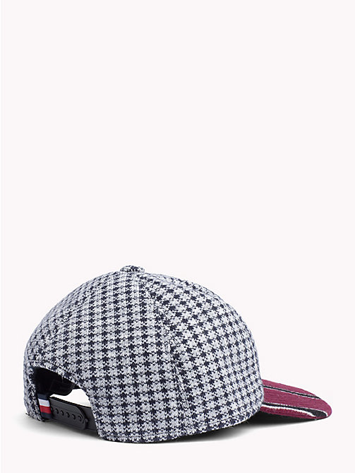 TOMMY HILFIGER Check Stripe Baseball Cap - BORDEAUX BRIM - TOMMY HILFIGER TOMMY NOW MEN - detail image 1
