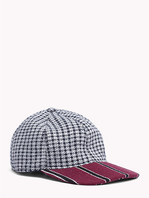 TOMMY HILFIGER Check Stripe Baseball Cap - BORDEAUX BRIM - TOMMY HILFIGER TOMMY NOW MEN - main image