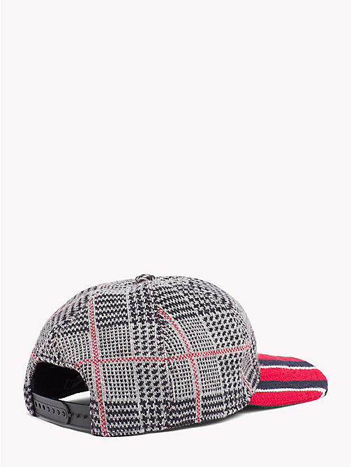 TOMMY HILFIGER Check Stripe Baseball Cap - RED BRIM - TOMMY HILFIGER TOMMY NOW MEN - detail image 1