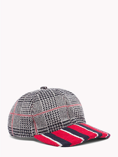 TOMMY HILFIGER Check Stripe Baseball Cap - RED BRIM - TOMMY HILFIGER TOMMY NOW MEN - main image