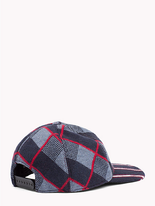TOMMY HILFIGER Check Stripe Baseball Cap - NAVY BRIM - TOMMY HILFIGER Bags & Accessories - detail image 1